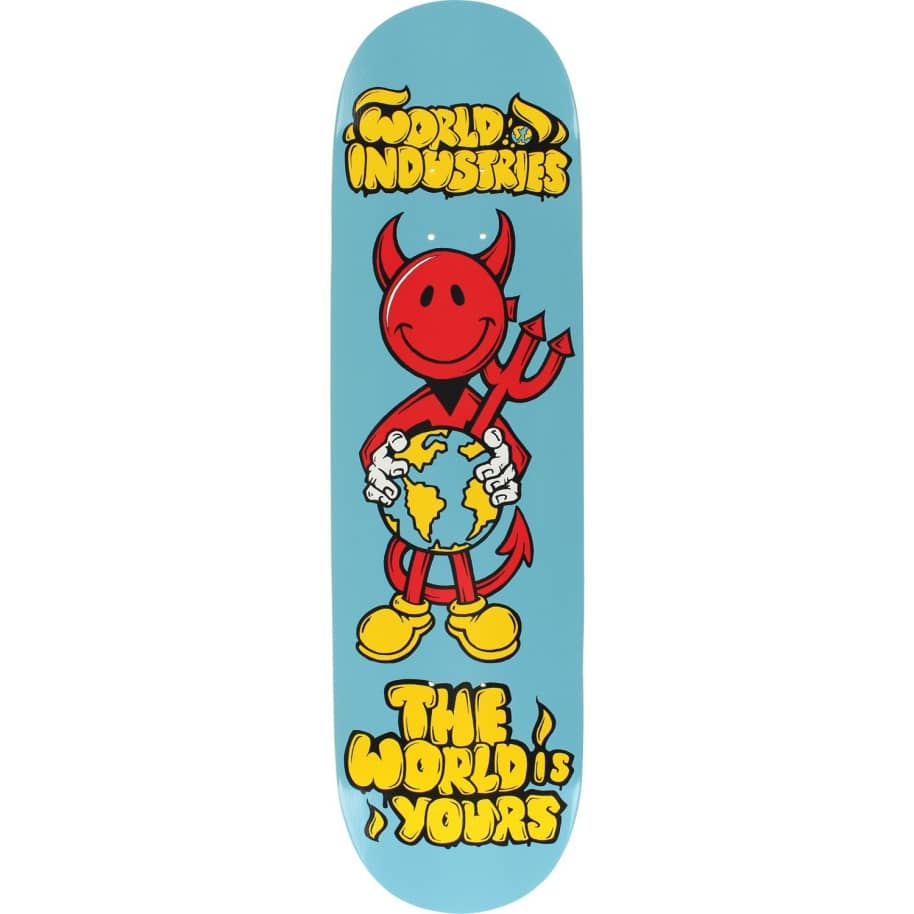 World Industries Devilman 'The World is yours' Skateboard Deck 8.25"