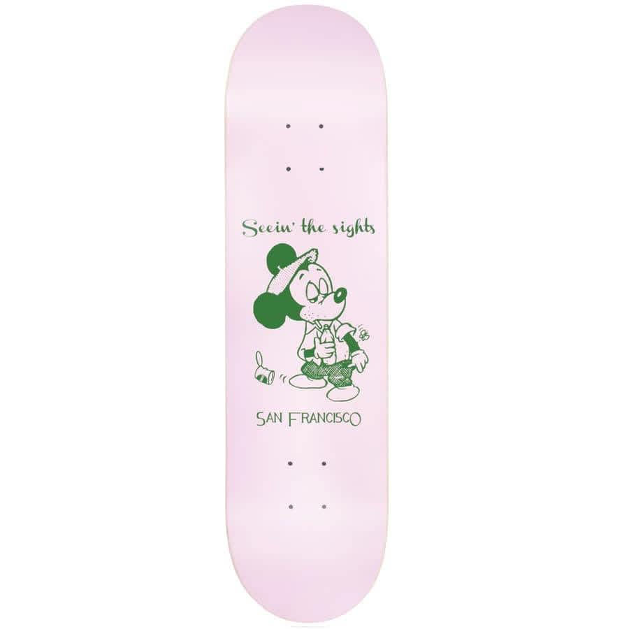 """Snack Skateboards Seein the Sights Deck 8"""" pink/green   Deck by Snack 1"""