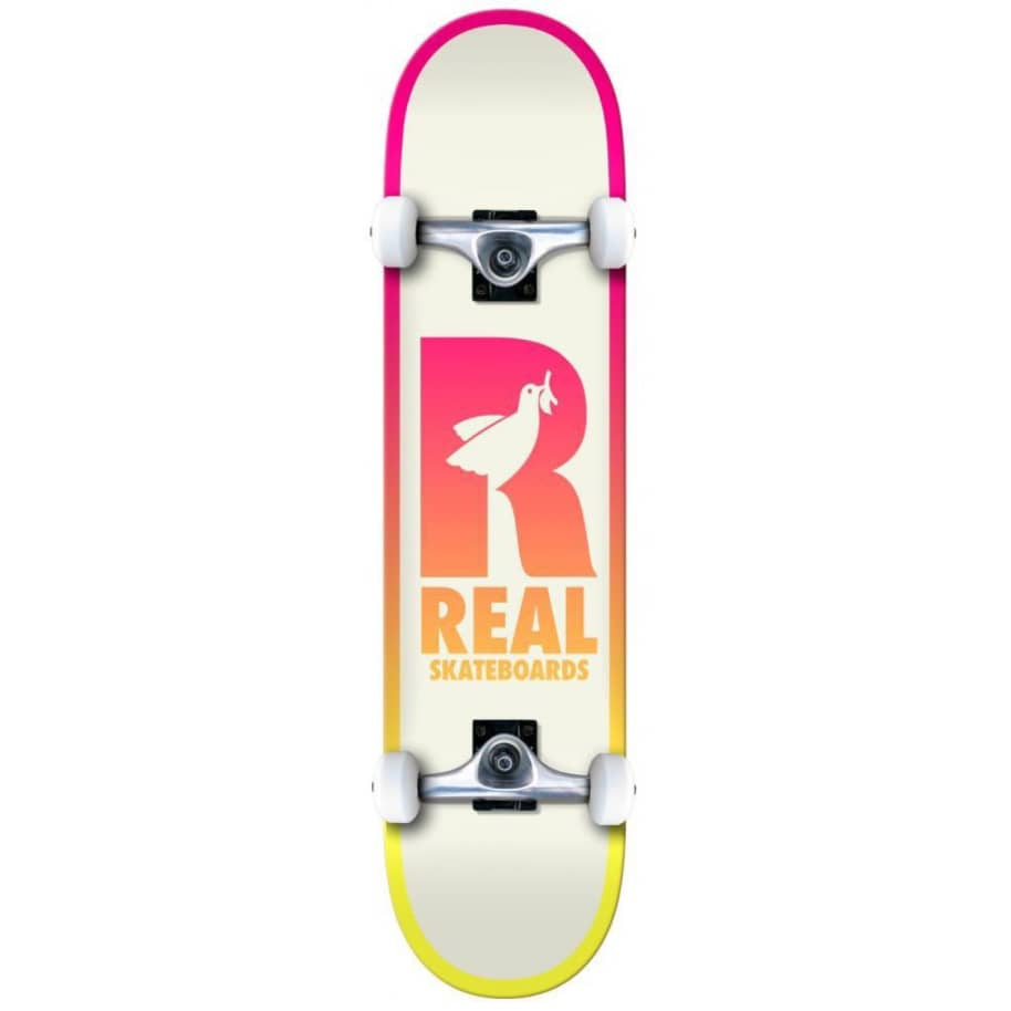 """Real Skateboards - 8"""" Be Free Complete - Yellow 