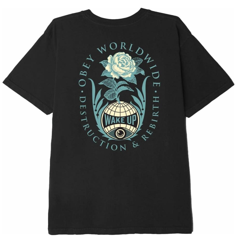 OBEY Destruction & Rebirth T-Shirt - Black | T-Shirt by OBEY Clothing 1