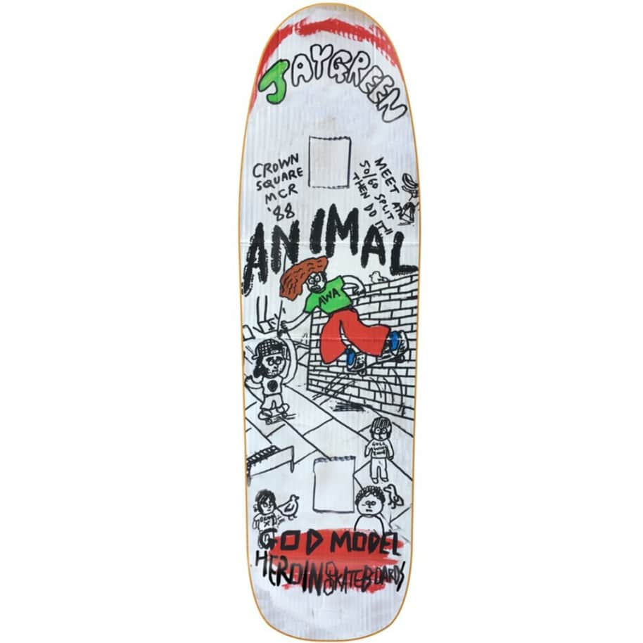 """JAY GREEN MANCHESTER 1988 8.88""""   Deck by Heroin Skateboards 1"""
