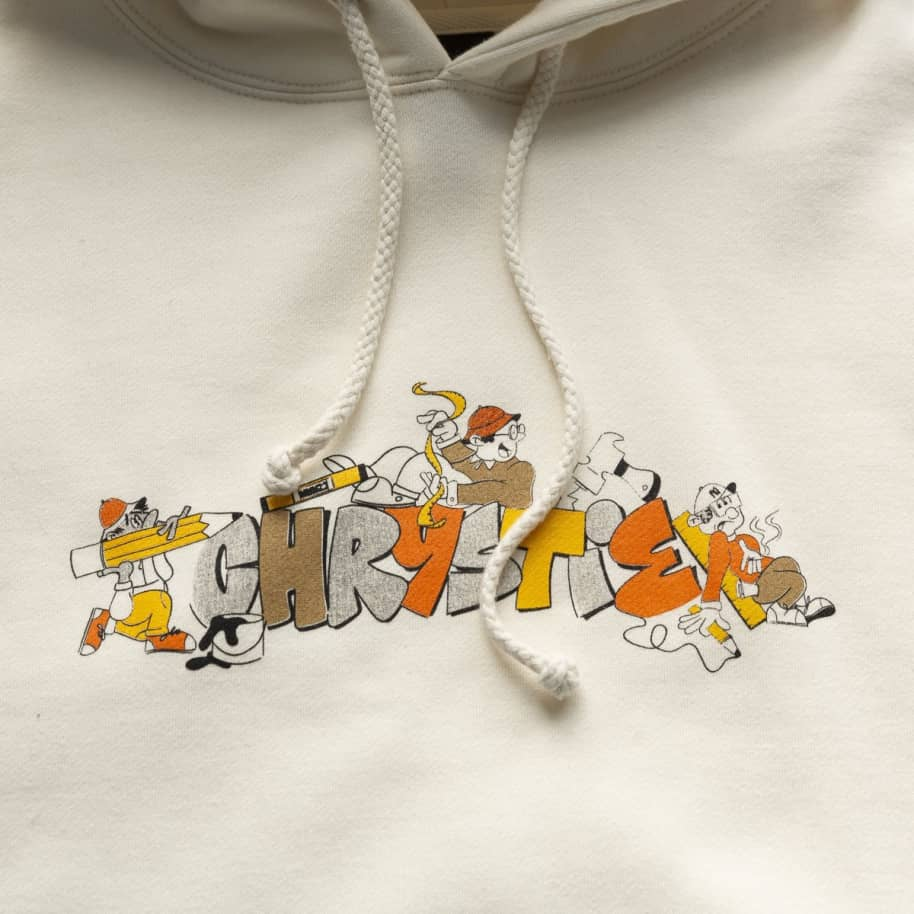 Chrystie NYC NYC Worker Hoodie - Bone | Hoodie by Chrystie NYC 2
