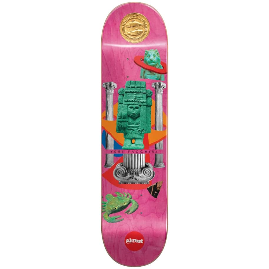 """Almost Skateboards - 8.0"""" Relics Yuri Facchini Pro Deck (Pink) 