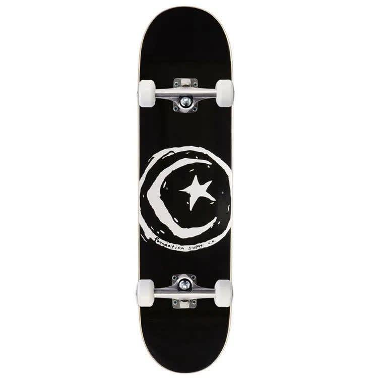Foundation Star & Moon Black Complete (8) | Complete Skateboard by Foundation 1