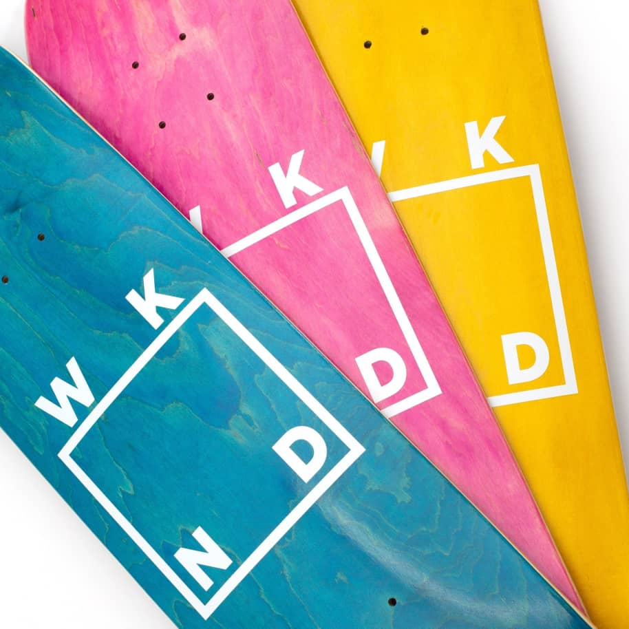"""WKND Logo White Assorted Colors Skateboard Deck - 8.25"""" 