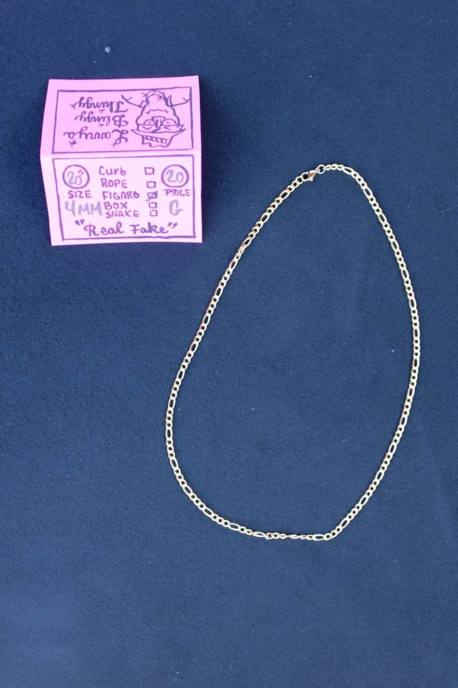 Figaro Necklace 20 inch 4 mm - Gold | Jewellery by Larry's Blingy Thingy 1