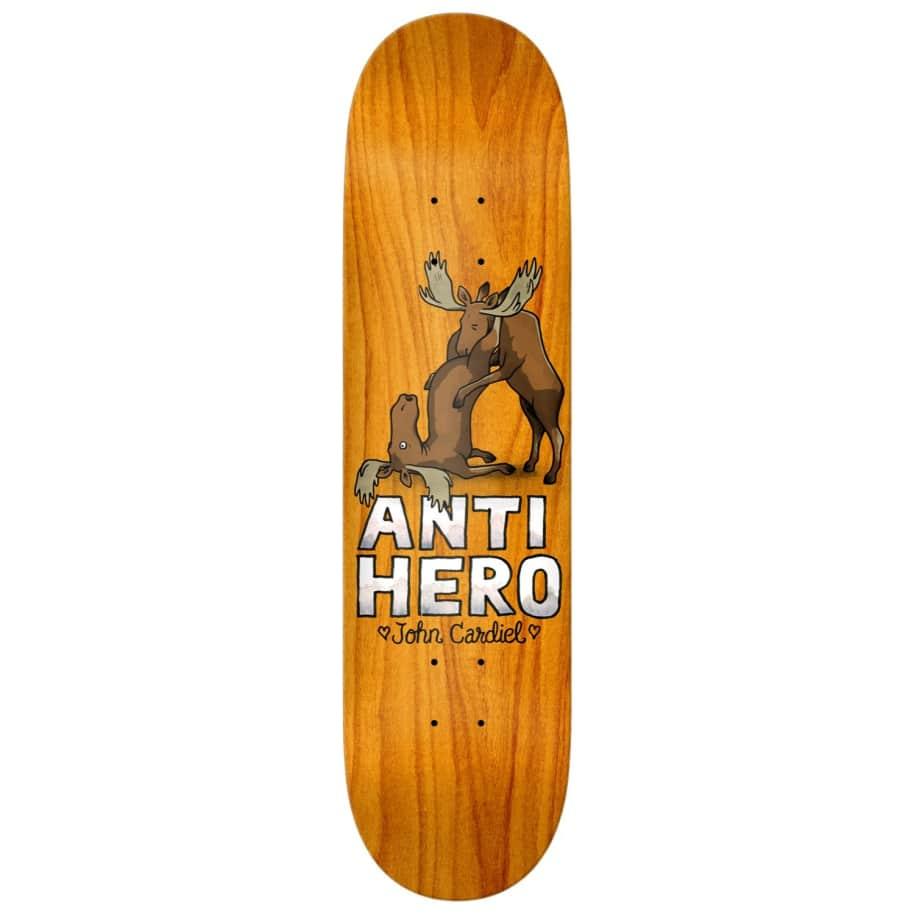 """Anti Hero Skateboards - 8.62"""" John Cardiel Lovers II Skateboard Deck - Various Wood Stains   Deck by Antihero Skateboards 1"""