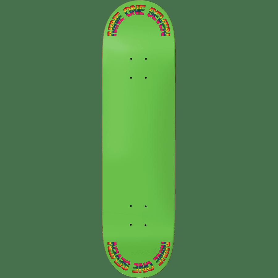 "Call Me 917 Rainbow Slick Skateboard Deck Green - 8.5"" | Deck by Call Me 917 1"