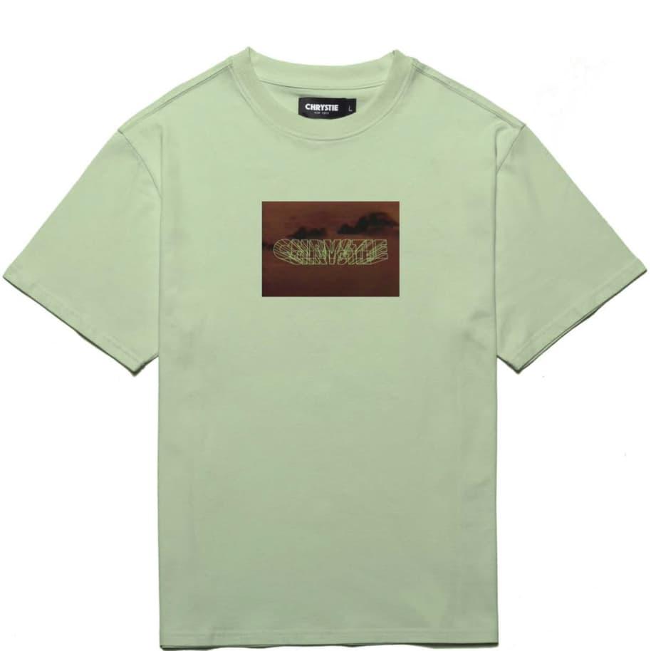 Chrystie NYC Trilogy Logo T-Shirt - Dill Green | T-Shirt by Chrystie NYC 1