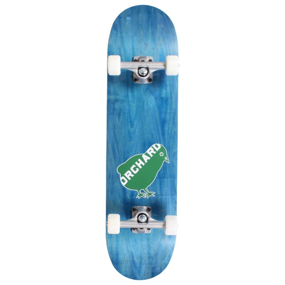 Orchard Green Bird Logo Hybrid Complete 7.8 Blue (With Free Skate Tool) | Complete Skateboard by Orchard 1