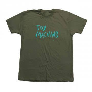 Toy Machine Paint T-Shirt (Olive/Blue) | T-Shirt by Toy Machine 1