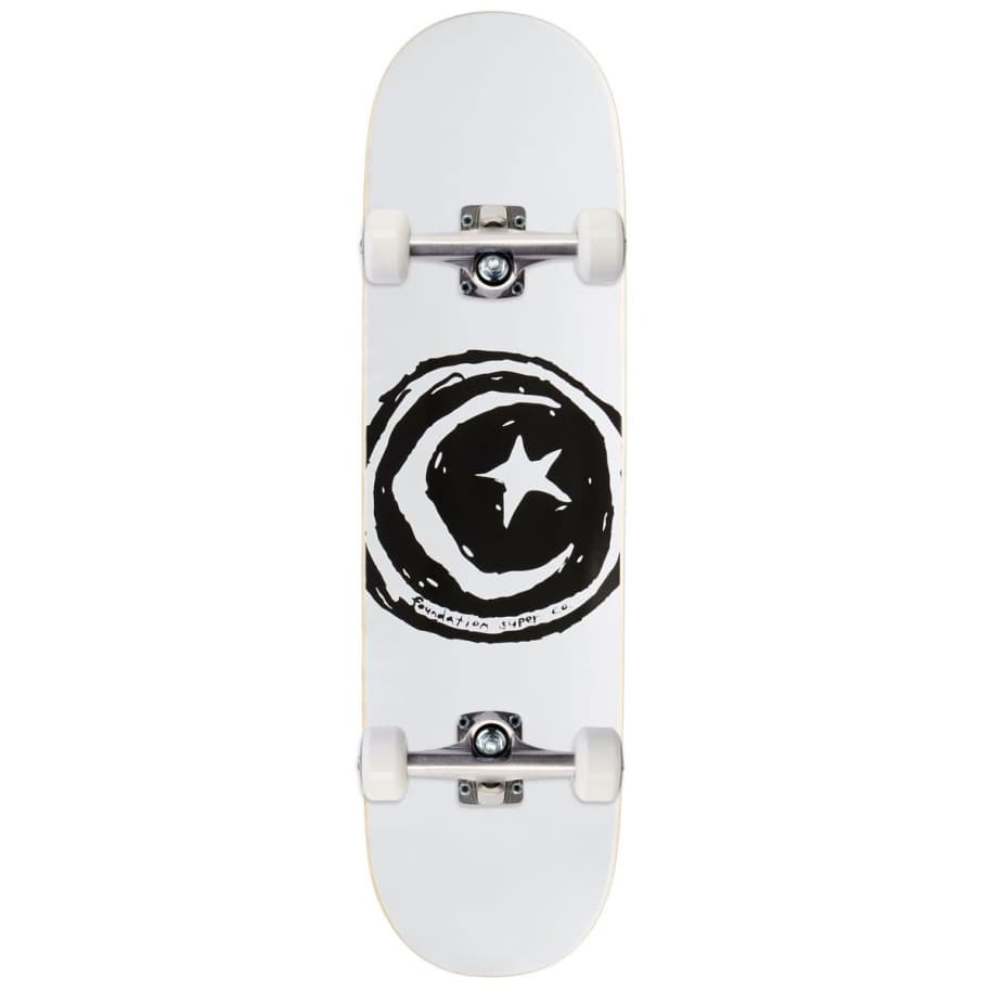 Foundation Star & Moon White Complete (7.75) | Complete Skateboard by Foundation 1