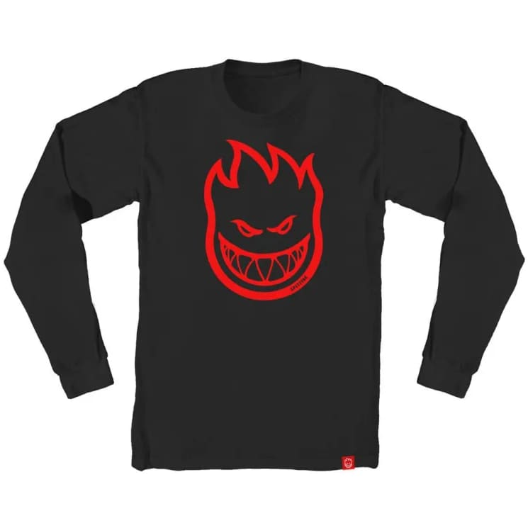 Spitfire Bighead L/S Youth T-Shirt (Charcoal/Red) | Longsleeve by Spitfire Wheels 1