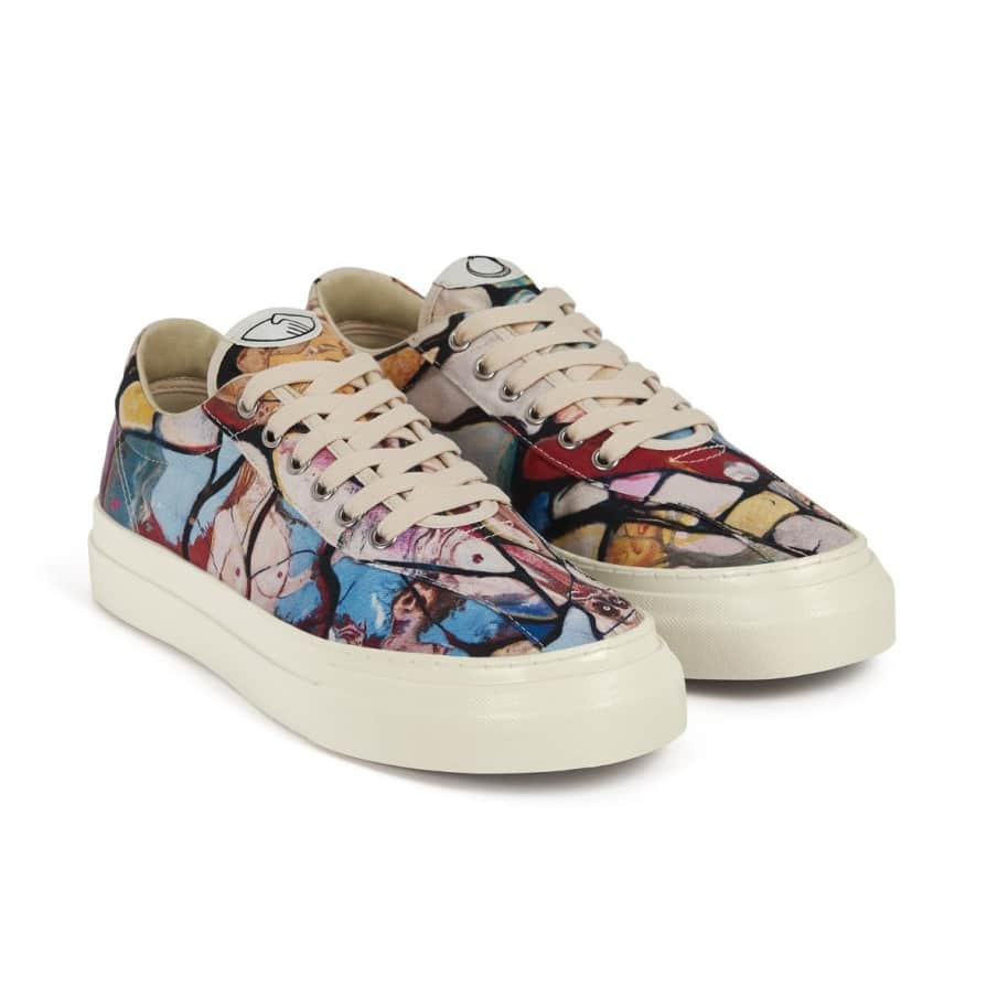 Stepney Workers Club x Endless Joy Dellow Mens Canvas Shoes - Cracked Earth | Shoes by Stepney Workers Club 2