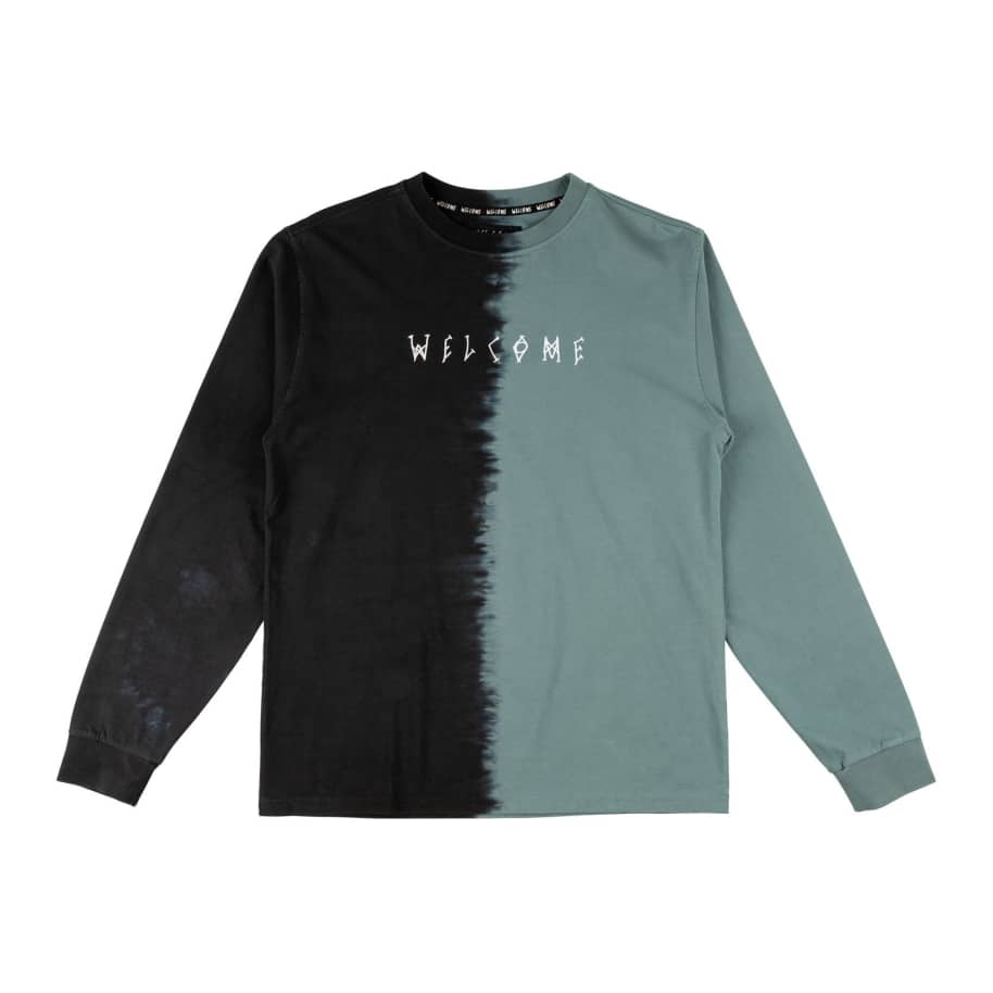 Welcome Dip Dyed Black/Atlantic | T-Shirt by Welcome Skateboards 1