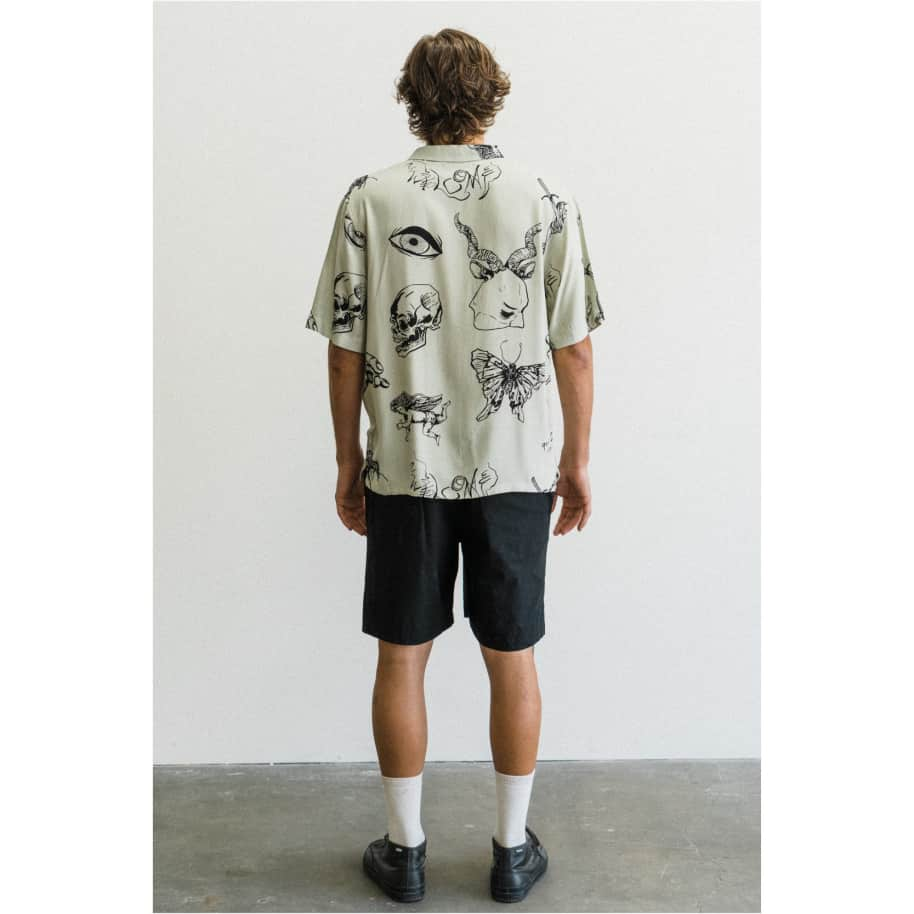 Welcome Ephemera 2 Rayon Button Down Shirt | Shirt by Welcome Skateboards 4