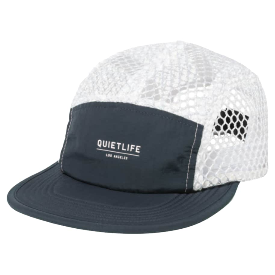 Quiet Life Mesh Crush 5 Panel Camper Hat Navy/White | Baseball Cap by The Quiet Life 1