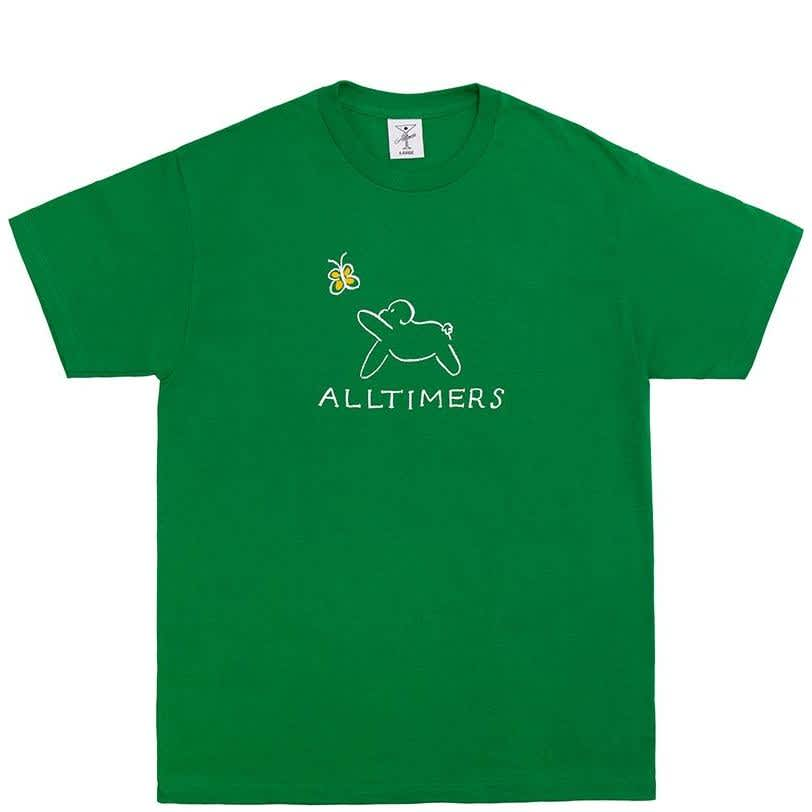Alltimers Claire Pup T-Shirt - Kelly Green | T-Shirt by Alltimers 1