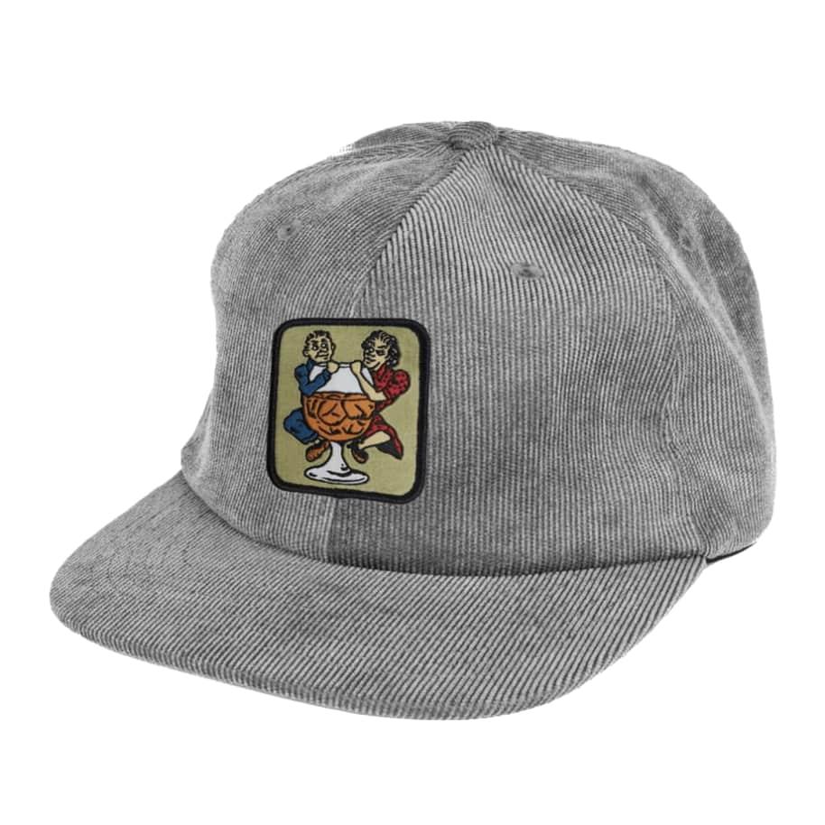Pass~Port With A Friend 5 Panel Cap - Steel Grey | Baseball Cap by Pass~Port Skateboards 1