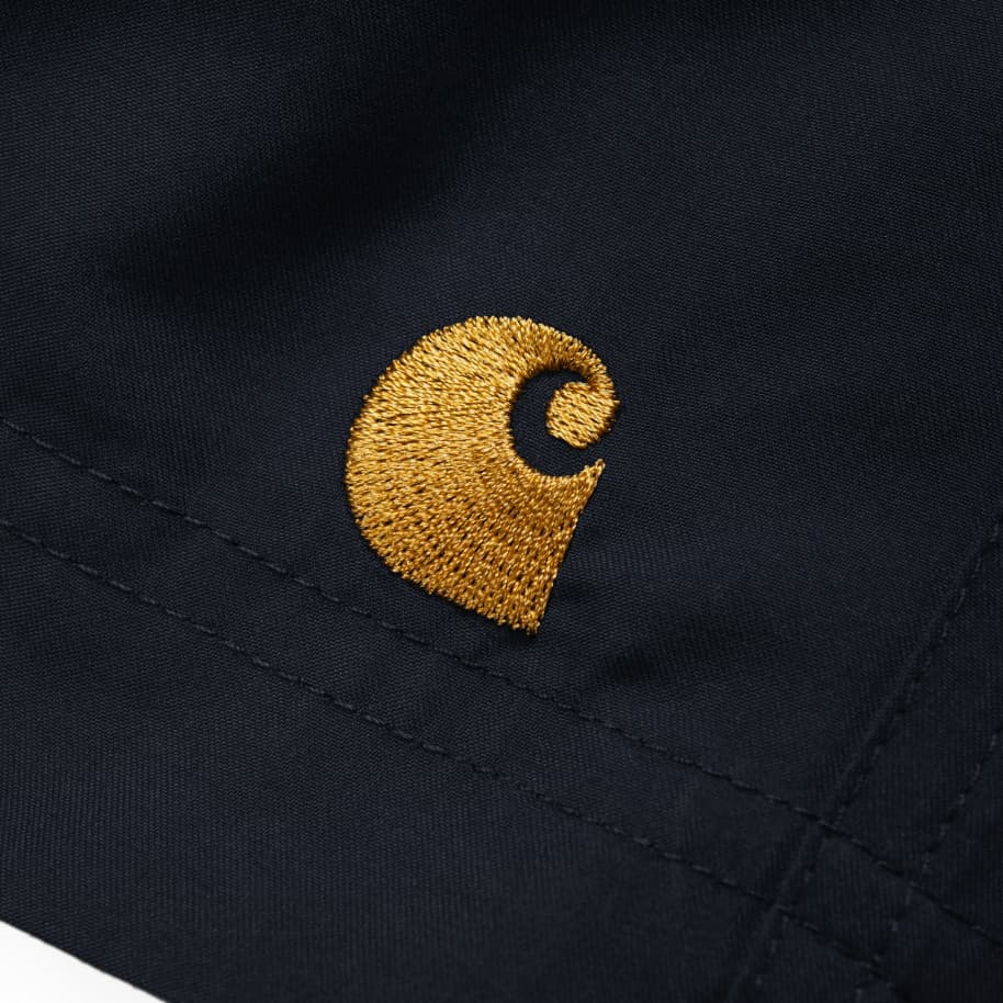 Carhartt WIP Chase Swim Trunks - Black / Gold | Shorts by Carhartt WIP 3