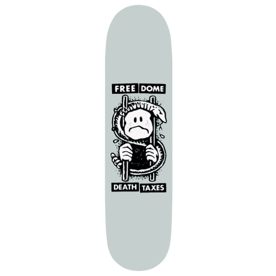 """Free Dome Death and Taxes Deck - 8.8""""   Deck by Free Dome Skateboards 1"""