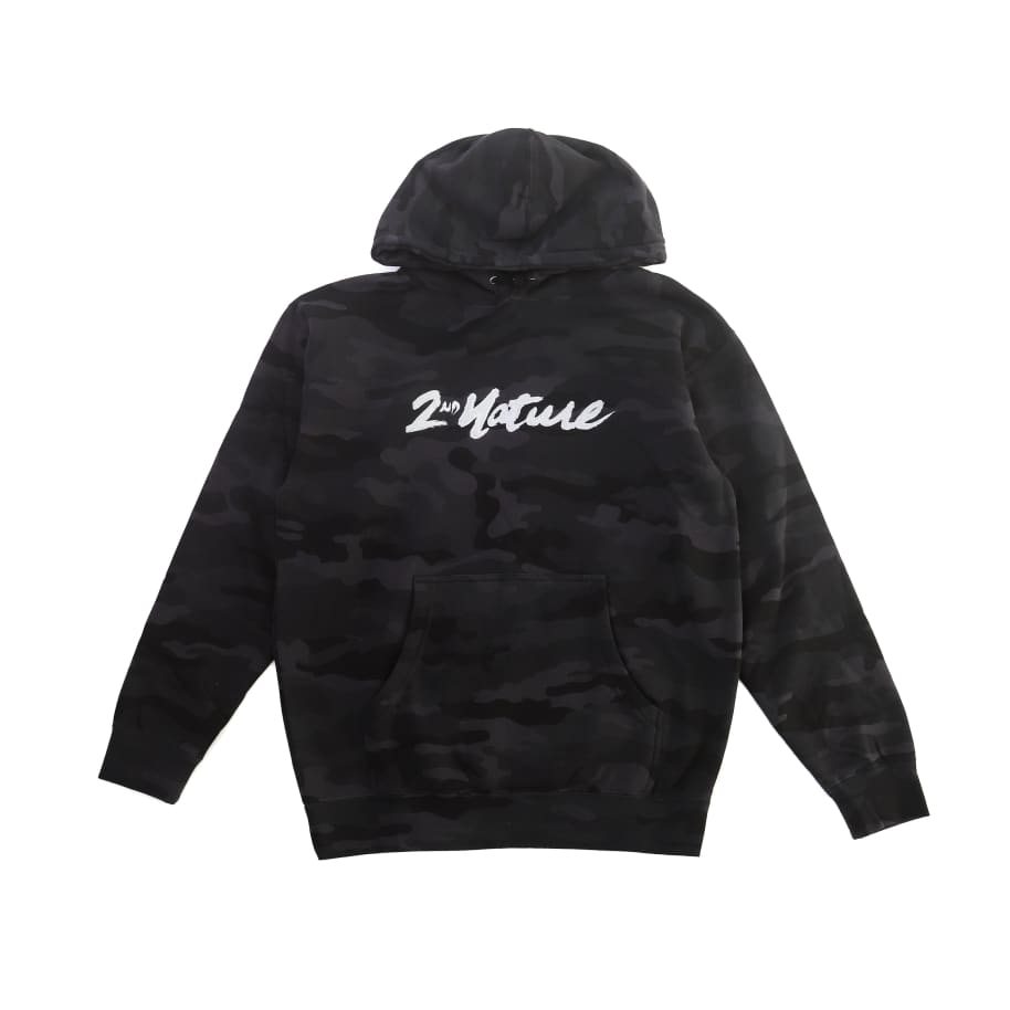 2nd Nature Embroidered OG Logo Pullover (Black Camo)   Hoodie by 2nd Nature 1