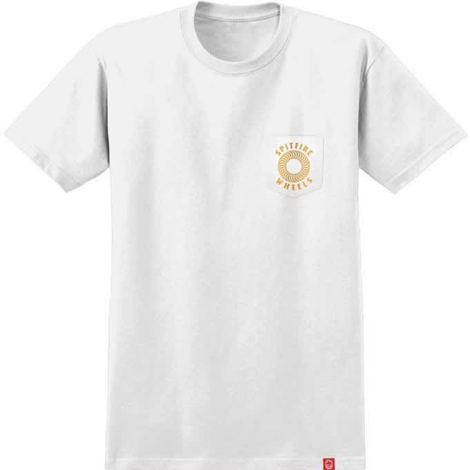 Spitfire T-Shirt Hollow Classic Pocket White | T-Shirt by Spitfire Wheels 2