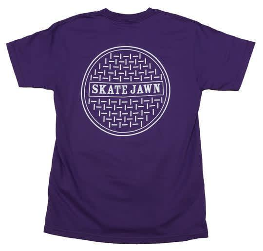 SKATE JAWN SEWER CAP TEE - PURPLE | T-Shirt by Skate Jawn 1