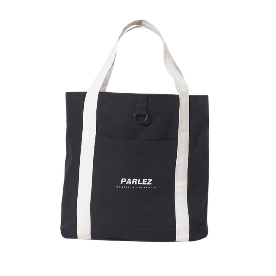 Parlez Cutter Tote Bag - Black   Tote Bag by Parlez Clothing 1