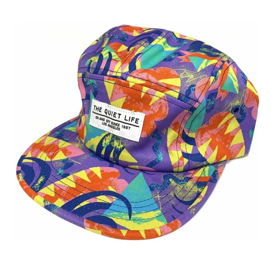 The Quiet Life Deco Shapes Camper Panel Strapback Hat - Purple | Baseball Cap by The Quiet Life 1