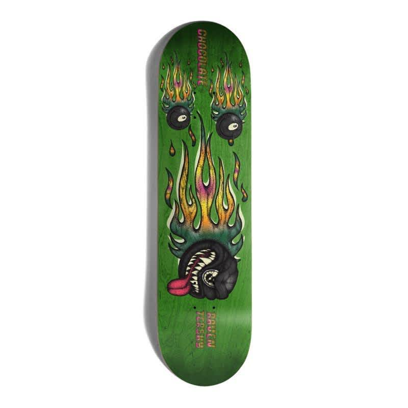 """Chocolate Mad 8 Ball One Off Raven Tershy Skateboard Deck 8.25"""" 
