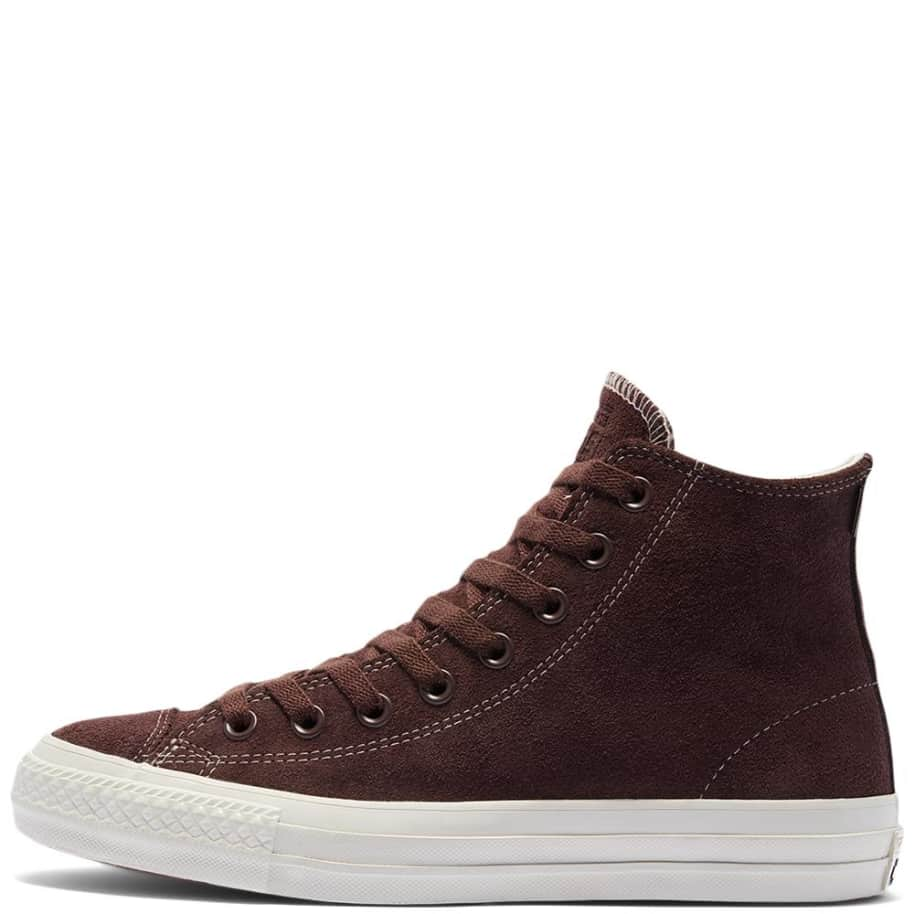 Converse CONS CTAS Pro High Top Suede Shoes - Dark Root / Egret   Shoes by Converse Cons 2
