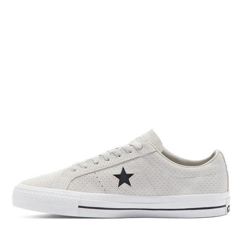 Converse CONS Perforated Suede One Star Pro Low Top Shoes - Pale Putty / White / White | Shoes by Converse Cons 3