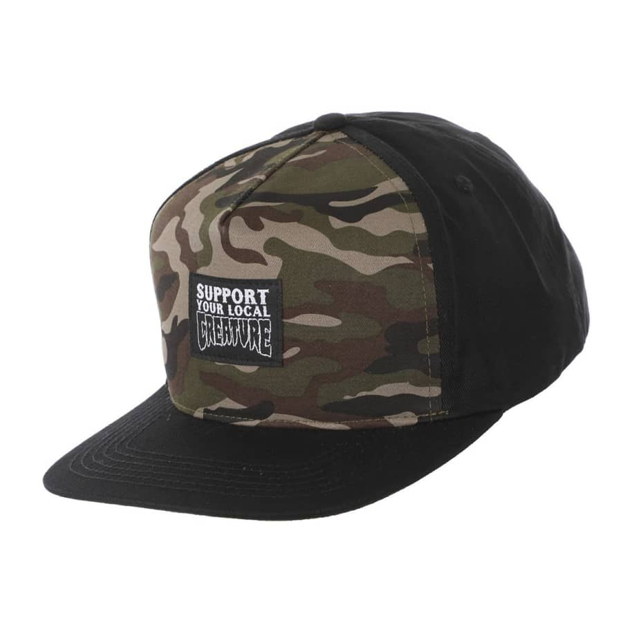 Support Your Local Creature Snapback Hat | Snapback Cap by Creature Skateboards 1