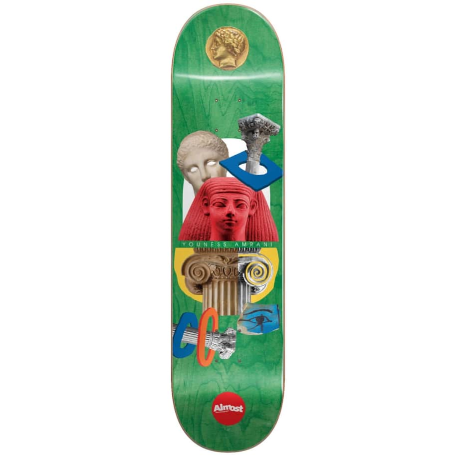 """Almost Skateboards - 8.0"""" Relics Youness Amrani Pro Deck (Green)   Deck by Almost Skateboards 1"""