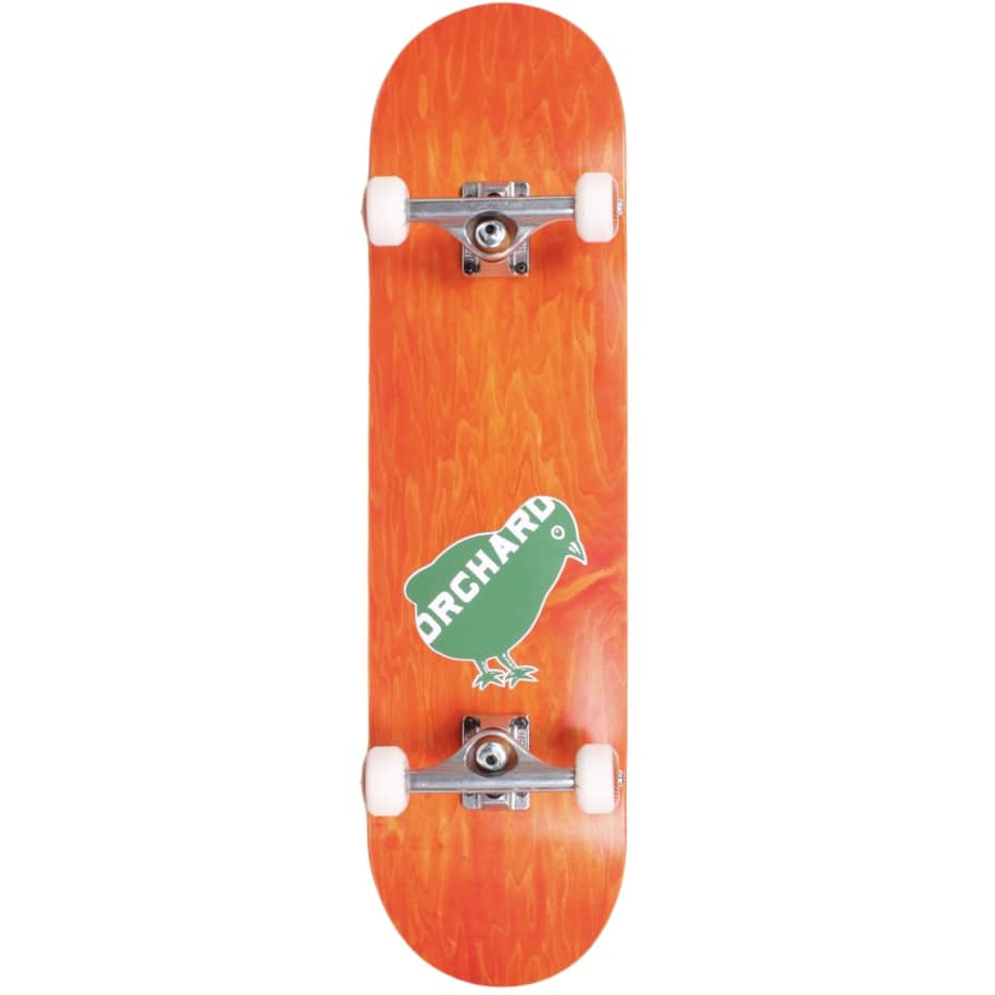"""Orchard Bird Logo Standard Complete 8.0"""" Orange (With Free Skate Tool) 