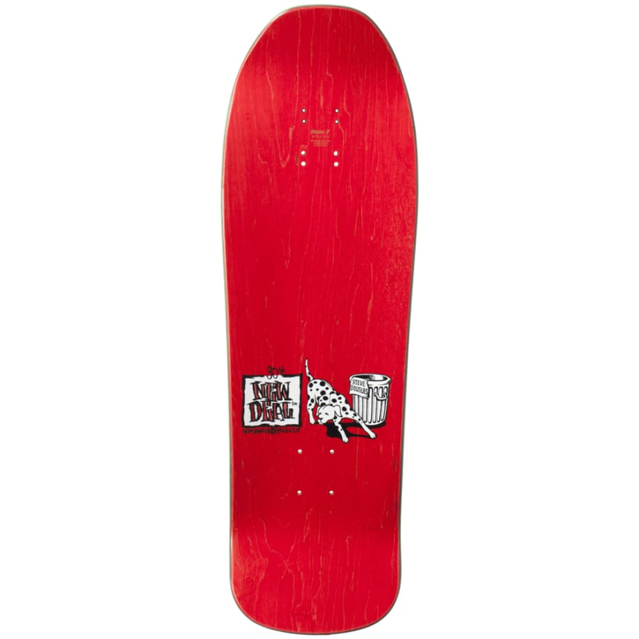 """New Deal Douglas Chums Reissue Screen Printed Deck 9.75"""" (Maroon) 