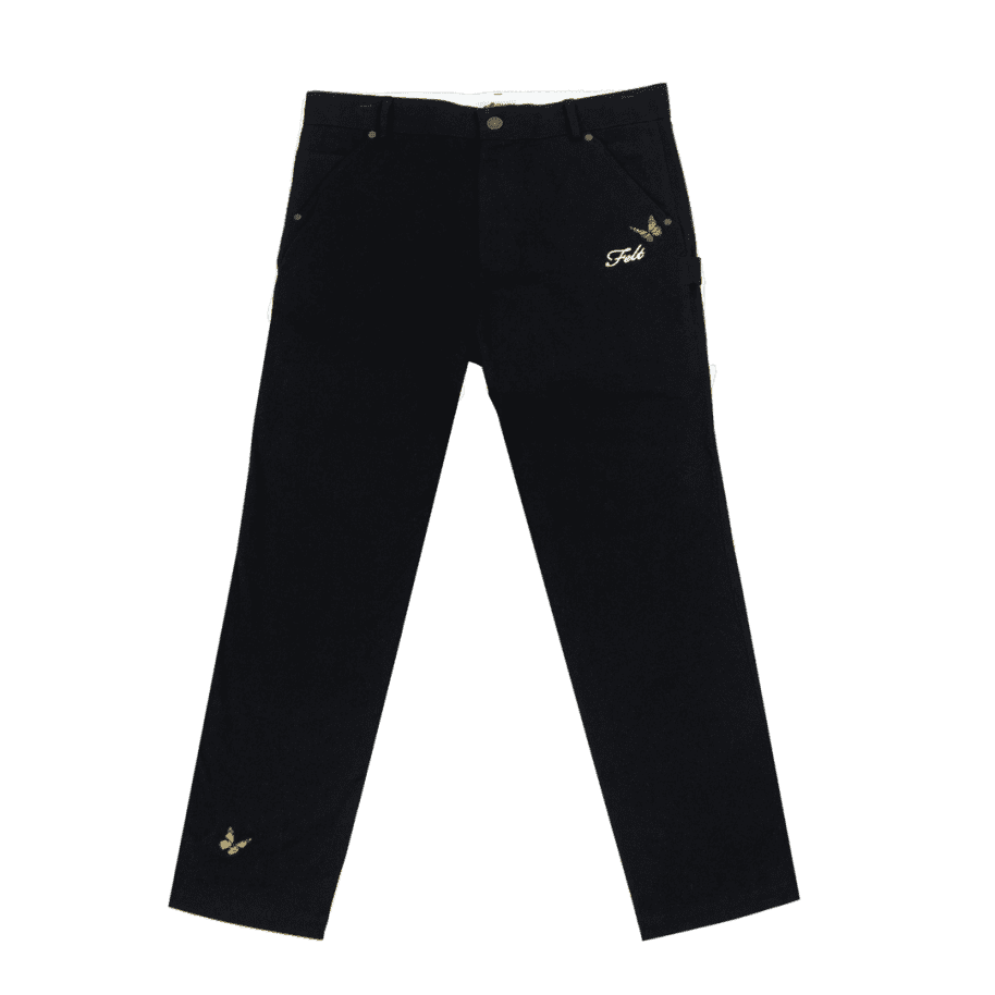 """FELT-""""BUTTERFLY GARDEN PANT""""(BLACK) 