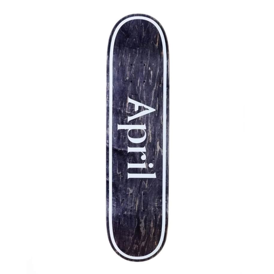 April OG Logo Invert Black Deck - (8.38)   Deck by April Skateboards 1