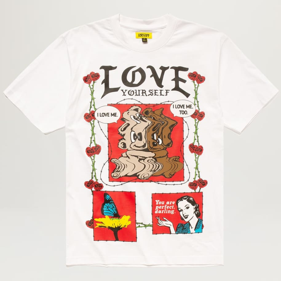 Chinatown Market Never Be Alone Bear Tee (White) | T-Shirt by Chinatown Market 1