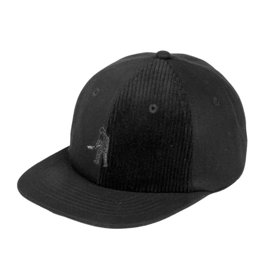 Pass~Port Cord Patch 6 Panel Cap - Black | Baseball Cap by Pass~Port Skateboards 1