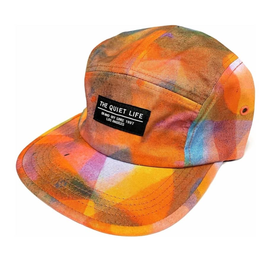 The Quiet Life Overspray Camper Panel Hat - Orange | Baseball Cap by The Quiet Life 1