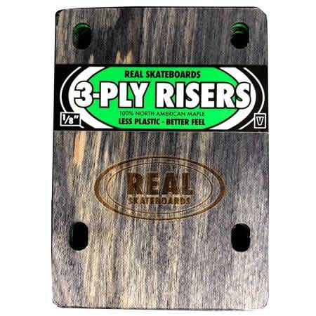 Real 3-Ply Wooden Venture Riser Pads (sold as a set)   Riser Pads by Real Skateboards 1