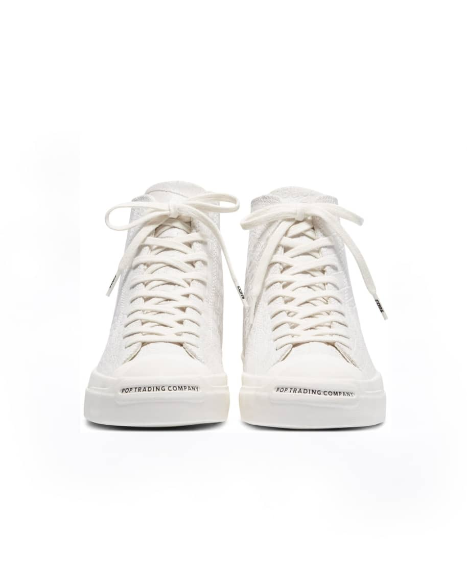 Converse CONS x Pop Trading Company JP Pro Hi Shoes - White 'Dragonskin' | Shoes by Converse Cons 3