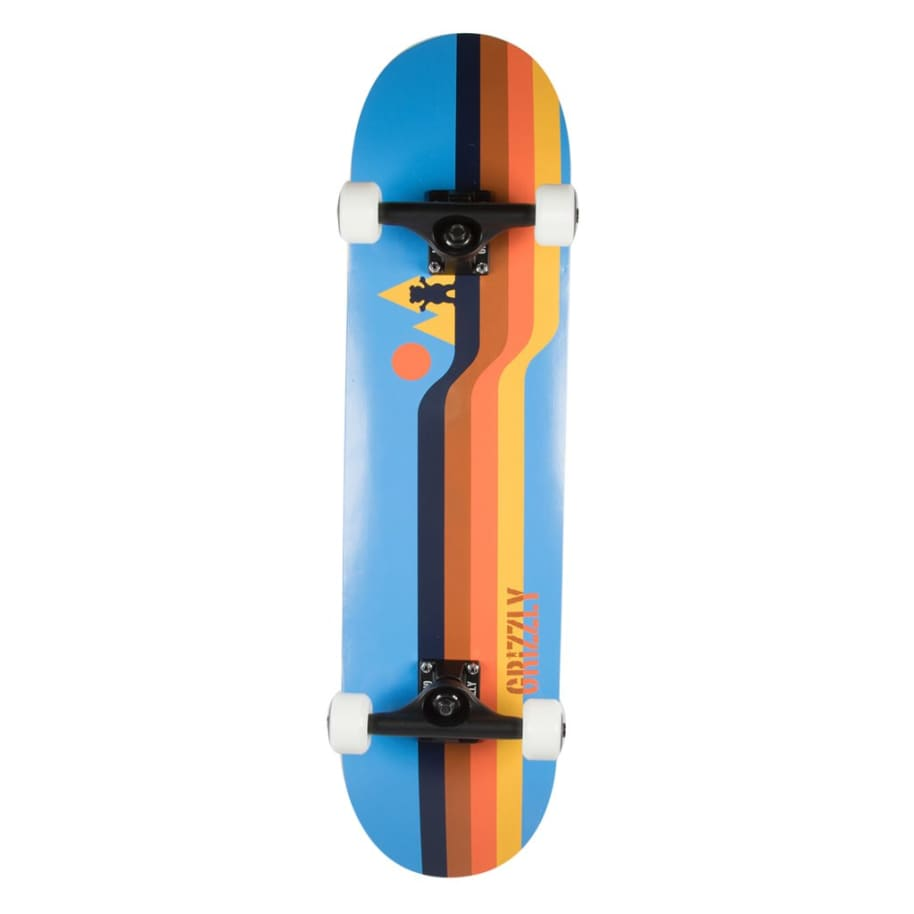 Retro Lines Complete - 7.5 | Complete Skateboard by Grizzly Griptape 1