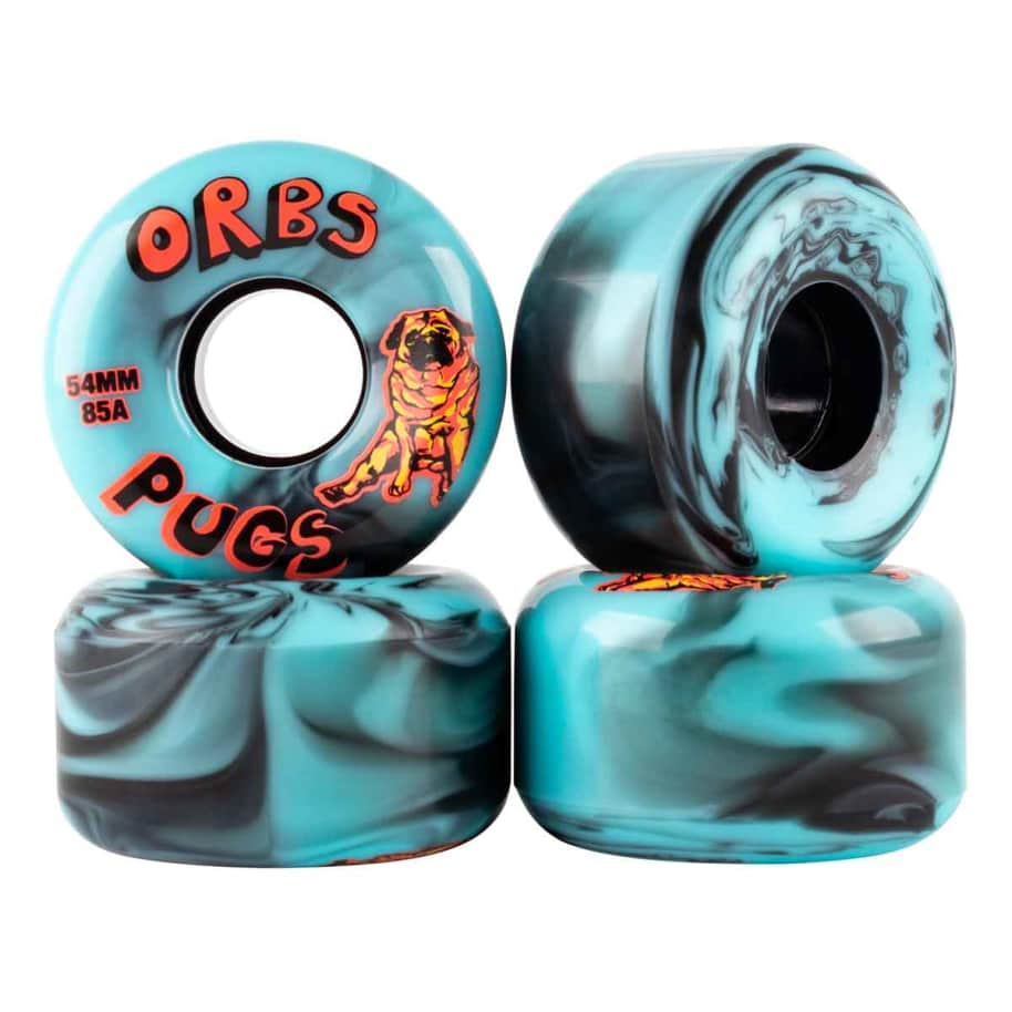 ORBS 54mm Pugs Wheels Black/Blue | Wheels by Orbs Wheels 1