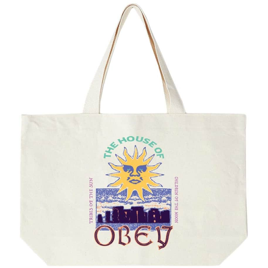 OBEY The House Of OBEY Tote Bag - Natural | Tote Bag by OBEY Clothing 1