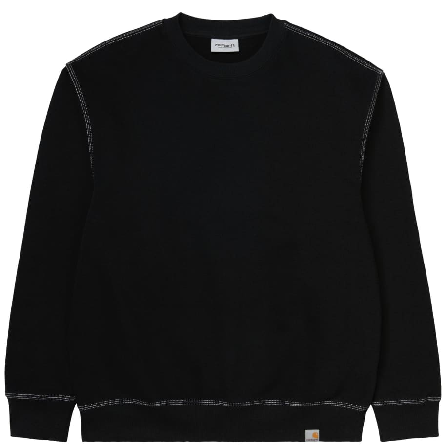 Carhartt WIP Nebraska Sweatshirt Black - White | Sweatshirt by Carhartt WIP 1