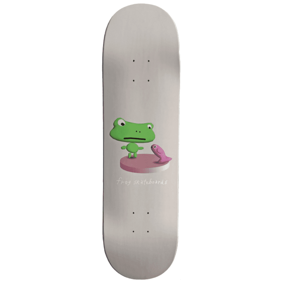 Frog Annoying Fish Skateboard Deck - 8.6"