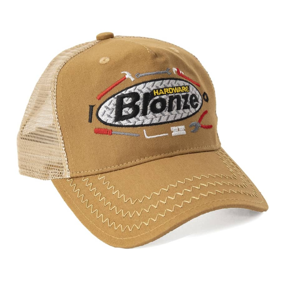 Bronze 56k Tool Time Trucker Hat - Cardboard Brown | Trucker Cap by Bronze 56k 1